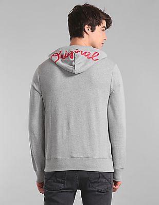 GAP Grey Hooded Logo Sweatshirt
