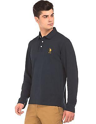 U.S. Polo Assn. Long Sleeve Pique Polo Shirt