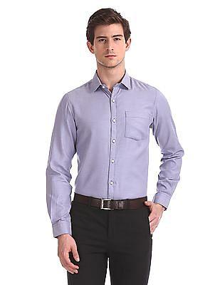 Excalibur Mitered Cuff Solid Shirt
