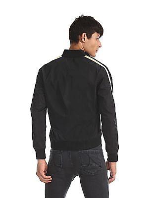 Colt Black Sleeve Tape Zip Up Jacket