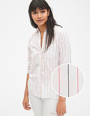GAP Fitted Boyfriend Stripe Shirt