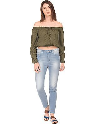 Aeropostale Off-Shoulder Crop Top
