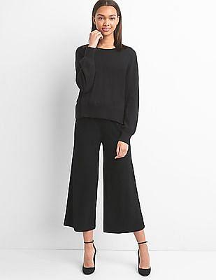 GAP Rib Knit Wide Leg Crop Pants