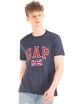 GAP Heathered Appliqued T-Shirt