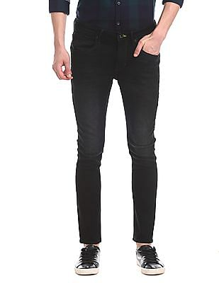 Flying Machine Black Jackson Skinny Fit Mid Rise Jeans