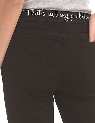Flying Machine Women Distressed Skinny Jeans