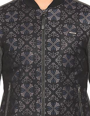 Ed Hardy Printed Panel Bomber Jacket