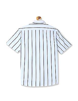 Arrow Sports Short Sleeve Vertical Stripe Shirt