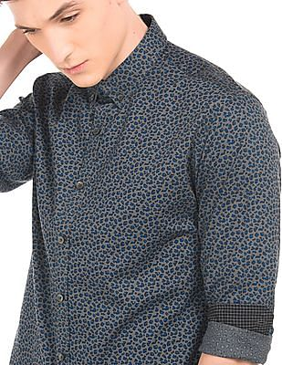 Flying Machine Animal Print Slim Fit Shirt