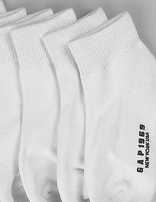 GAP Boys White Quarter Socks (6-Pack)