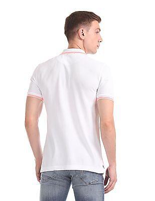 Flying Machine Short Sleeve Tipped Polo Shirt
