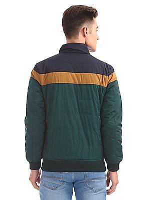 Arrow Sports Colour Blocked Padded Jacket