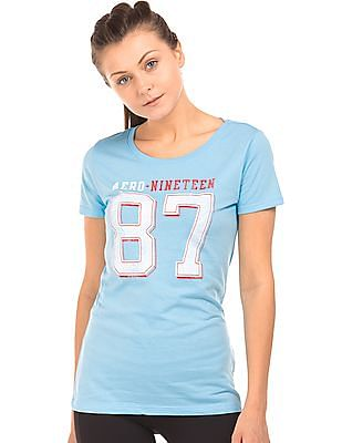 Aeropostale Numeric Print Regular Fit T-Shirt