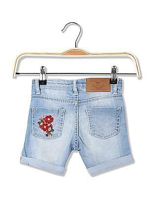 Cherokee Girls Distressed Denim Shorts