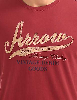 Arrow Sports Regular Fit Printed T-Shirt