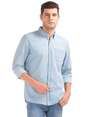 GAP Indigo Twill Standard Fit Shirt