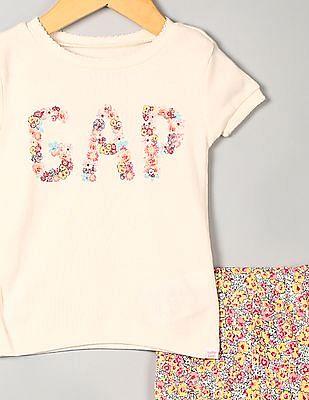 GAP Baby Assorted Floral Logo Short Sleep Set