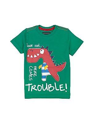 Cherokee Boys Dragon Appliqued T-Shirt