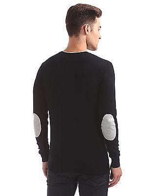 Flying Machine V-Neck Viscose Sweater