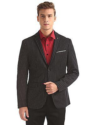Arrow Slim Fit Striped Blazer