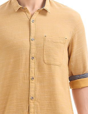 Cherokee Patterned Weave Contemporary Fit Shirt