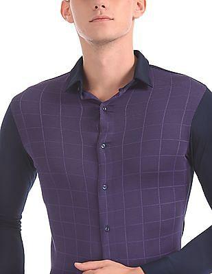 Arrow Newyork Super Slim Fit Panelled Shirt