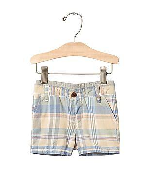 GAP Baby Plaid Pull On Shorts