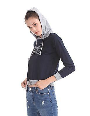 SUGR Waist Tie Up Hooded Sweatshirt