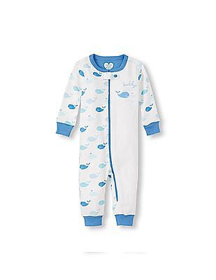 The Children's Place Baby And Toddler Boy Long Sleeve 'Daddy Whaley Loves Me' Graphic And Whale Print Stretchie