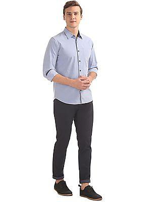 Arvind Slim Fit Patterned Shirt