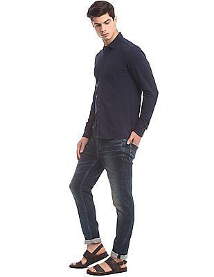 True Blue Slim Fit Knit Shirt