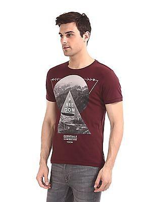 Flying Machine Round Neck Printed T-Shirt