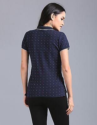 GAP Short Sleeves Printed Polo Shirt