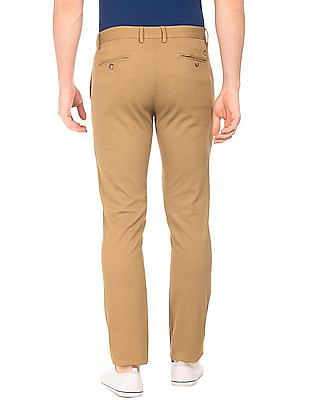 U.S. Polo Assn. Slim Fit Textured Chinos
