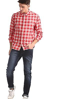 Aeropostale Red Patch Pocket Check Shirt
