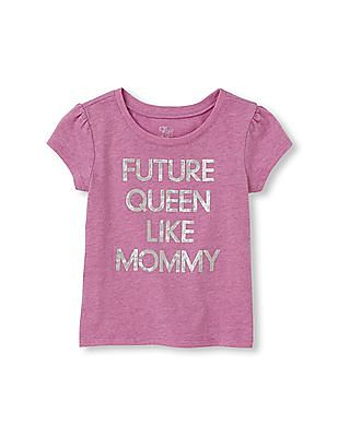 The Children's Place Toddler Girl Short Sleeve 'Future Queen Like Mommy' Graphic Tee