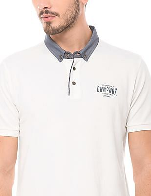 Flying Machine Regular Fit Button Down Polo Shirt