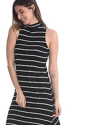 Aeropostale Black Striped Shift Dress