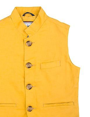 U.S. Polo Assn. Kids Boys Regular Fit Nehru Jacket