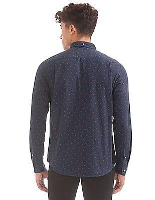 Aeropostale Star Print Button Down Shirt