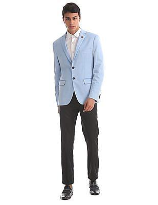 USPA Tailored Slim Fit Patterned Weave Blazer
