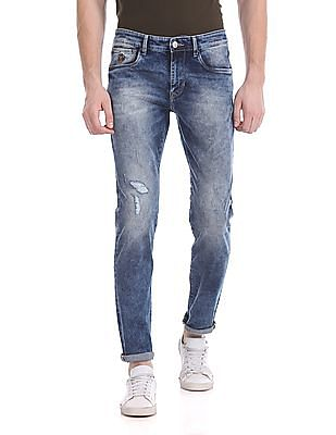U.S. Polo Assn. Denim Co. Brandon Slim Tapered Fit Mid Rise Jeans
