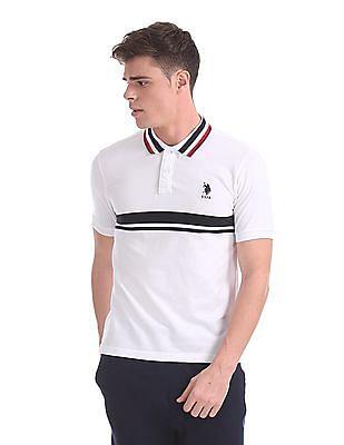 U.S. Polo Assn. Regular Fit Stripe Collar Polo Shirt
