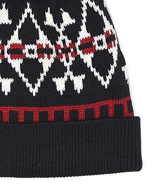 U.S. Polo Assn. Patterned Knit Wool Beanie