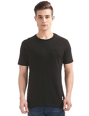 Cherokee Patch Pocket Slubbed T-Shirt