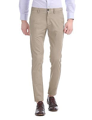 U.S. Polo Assn. Austin Trim Regular Fit Patterned Weave Trousers