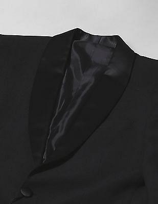 True Blue Shawl Collar Textured Blazer