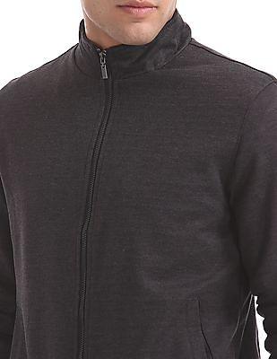 Arrow Sports Patterned Zip Up Bomber Jacket
