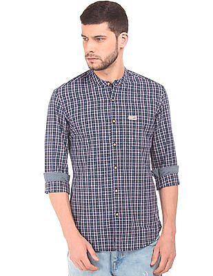 U.S. Polo Assn. Denim Co. Mandarin Collar Check Shirt