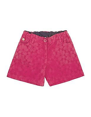 U.S. Polo Assn. Kids Girls Schiffli Cotton Shorts